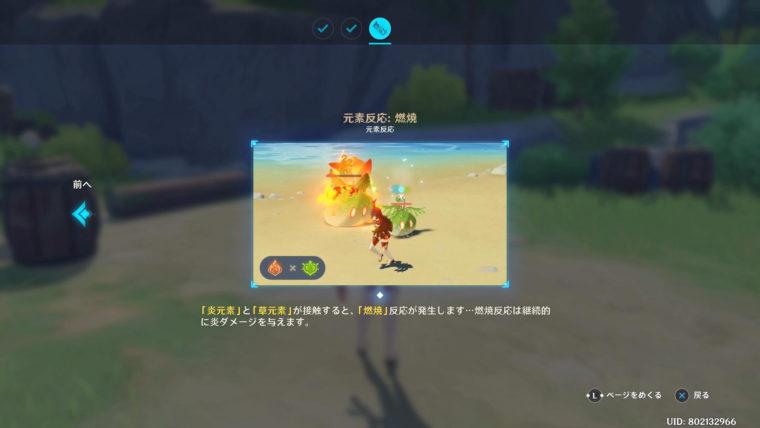 原神、元素反応:燃焼